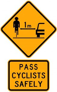 cyclist warning sign