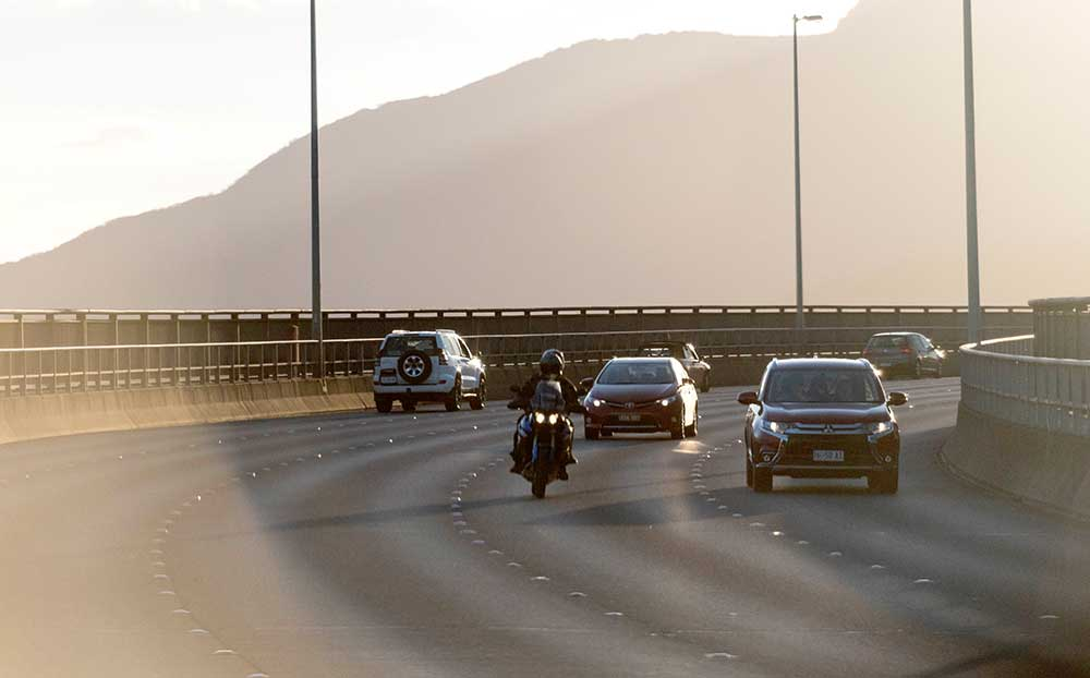 Motorcycle on Tasman Bridge